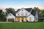 Prairie Style Floor Plan Front of House 011D-0653