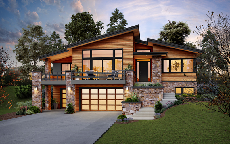 Beach & Coastal House Plan Front of Home - 011D-0655 | House Plans and More