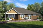 Country House Plan Rear Photo 01 - 011D-0665 | House Plans and More