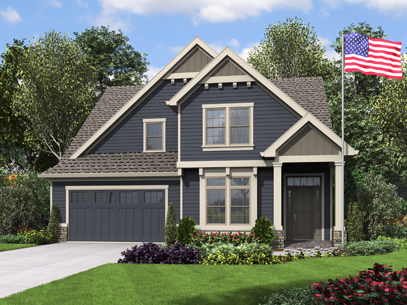 Arts & Crafts House Plan Front Image - 011D-0673   House Plans and More