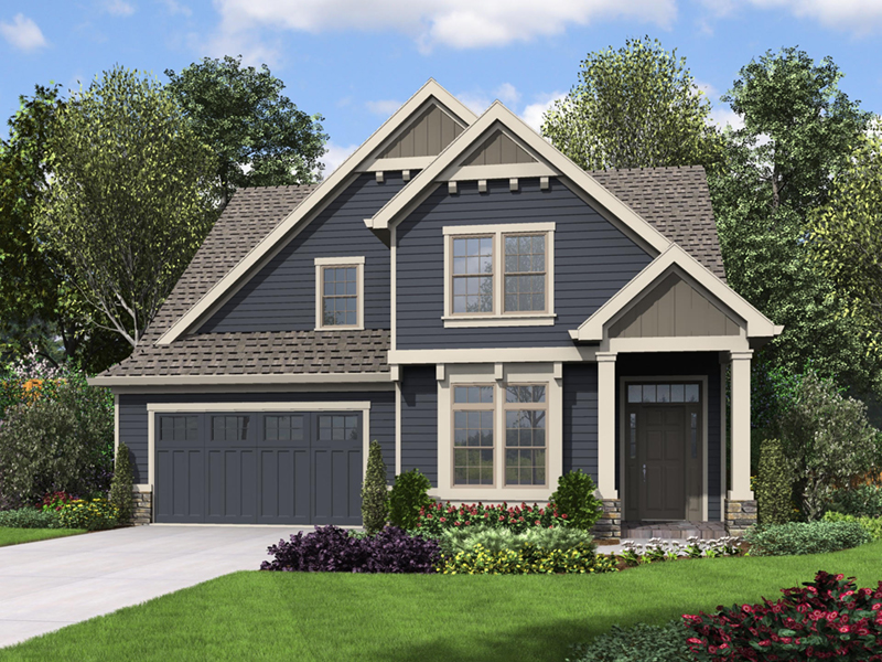 Craftsman House Plan Front of Home - 011D-0673 | House Plans and More