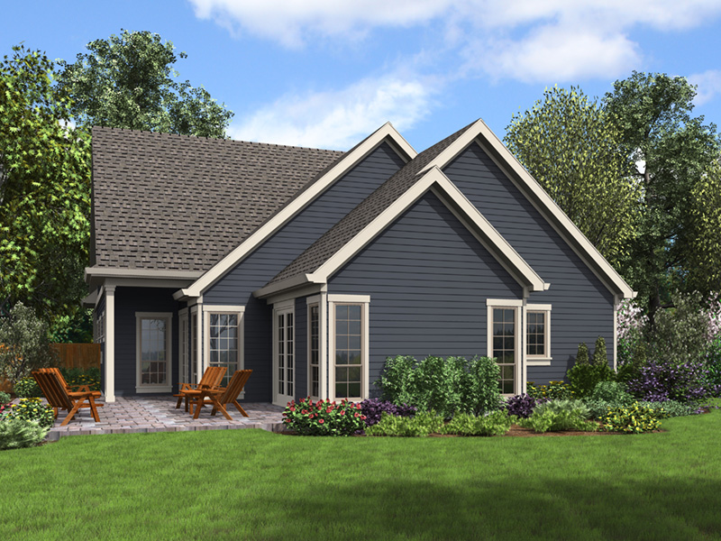 Arts & Crafts House Plan Rear Photo 01 - 011D-0673   House Plans and More