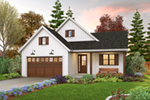 Farmhouse Plan Front of Home - 011D-0676 | House Plans and More