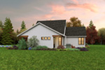Farmhouse Plan Side View Photo - 011D-0676 | House Plans and More