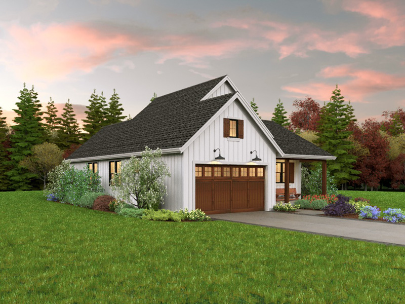 Farmhouse Plan Side View Photo 01 - 011D-0676 | House Plans and More