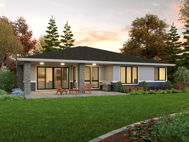 Florida House Plan Rear Photo 01 - 011D-0679 | House Plans and More