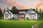 Prairie Style Floor Plan Front of House 011D-0682