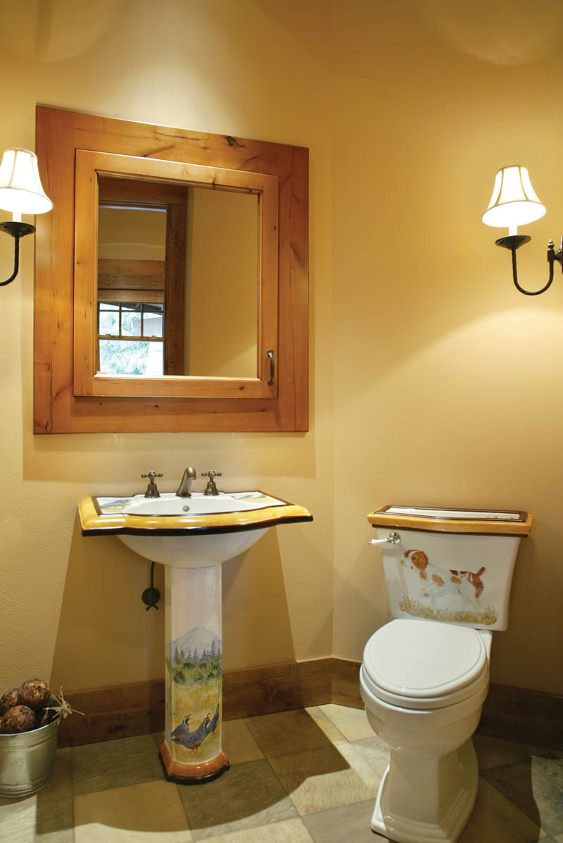 Luxury House Plan Bathroom Photo 03 - Cliffwood Trail Lodge Home 011S-0001 | House Plans and More