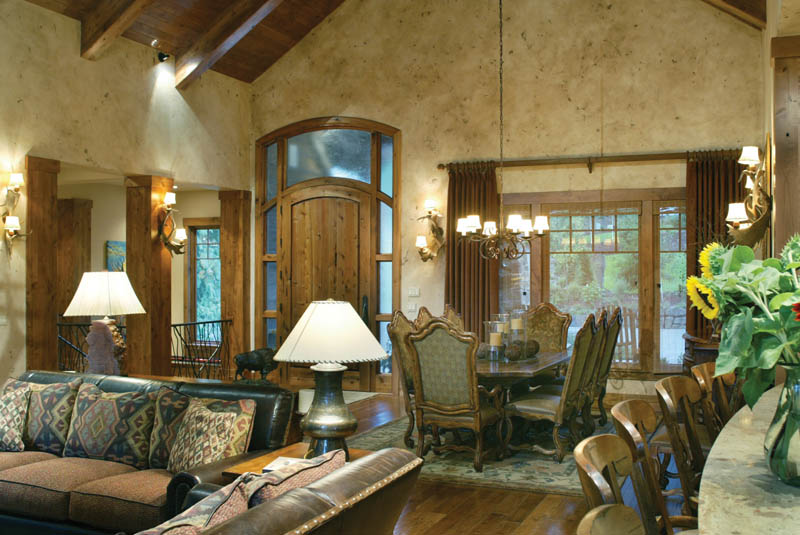 Luxury House Plan Dining Room Photo 02 - Cliffwood Trail Lodge Home 011S-0001 | House Plans and More