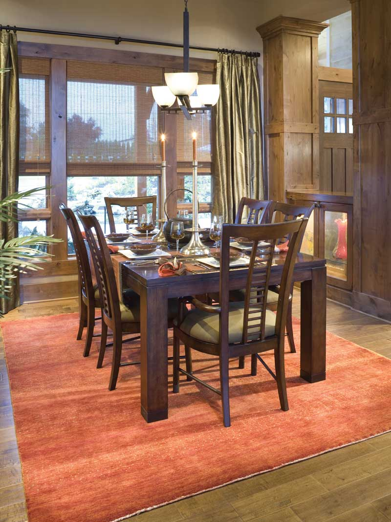 Luxury House Plan Dining Room Photo 03 - Cliffwood Trail Lodge Home 011S-0001 | House Plans and More