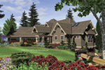 Luxury House Plan Front Image - Cliffwood Trail Lodge Home 011S-0001 | House Plans and More