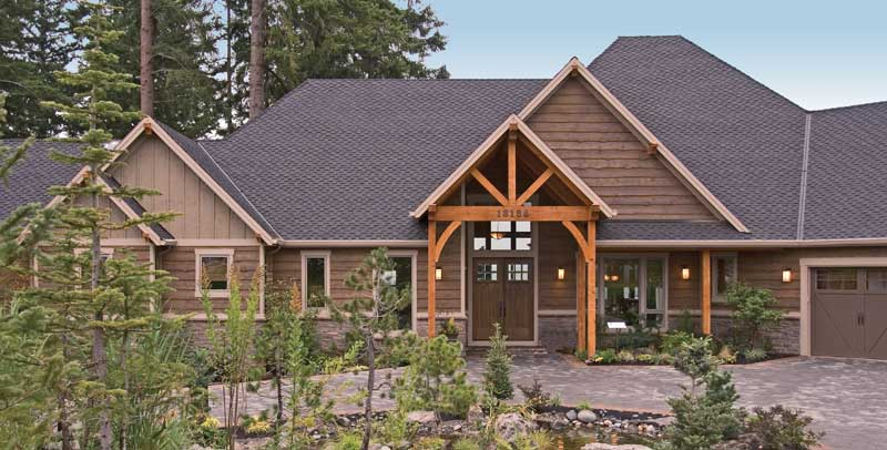 Luxury House Plan Front Photo 05 - Cliffwood Trail Lodge Home 011S-0001 | House Plans and More