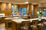 Luxury House Plan Kitchen Photo 02 - Cliffwood Trail Lodge Home 011S-0001 | House Plans and More