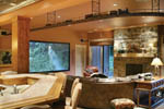Luxury House Plan Media Room Photo 01 - Cliffwood Trail Lodge Home 011S-0001 | House Plans and More