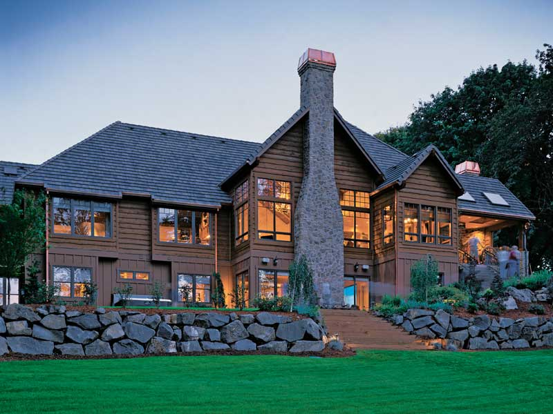 Luxury House Plan Rear Photo 02 - Cliffwood Trail Lodge Home 011S-0001 | House Plans and More