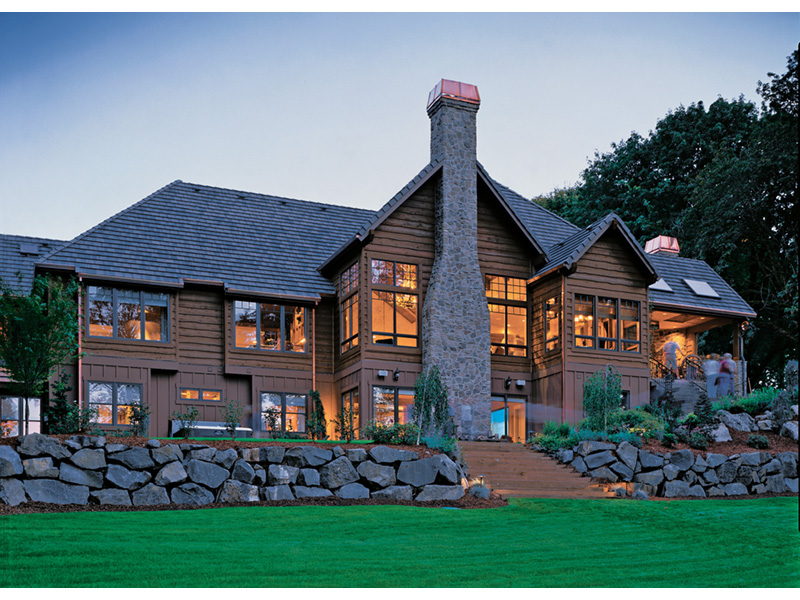 Luxury House Plan Rear Photo 03 - Cliffwood Trail Lodge Home 011S-0001 | House Plans and More