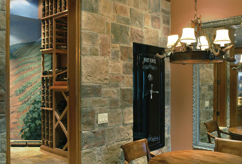 Luxury House Plan Wine Cellar Photo - Cliffwood Trail Lodge Home 011S-0001 | House Plans and More