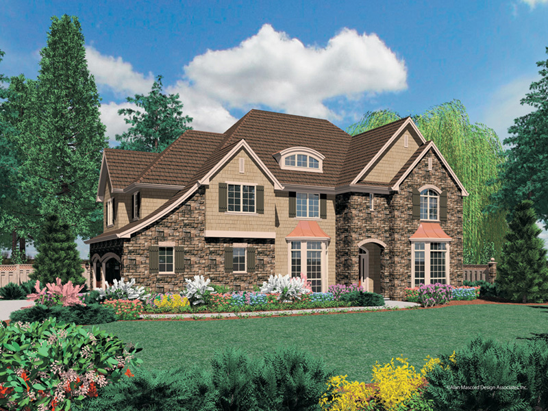 Country French House Plan Front Image - Castlton European Grandeur Home 011S-0002 | House Plans and More