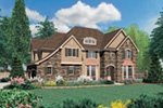 European House Plan Front Image - Castlton European Grandeur Home 011S-0002 | House Plans and More