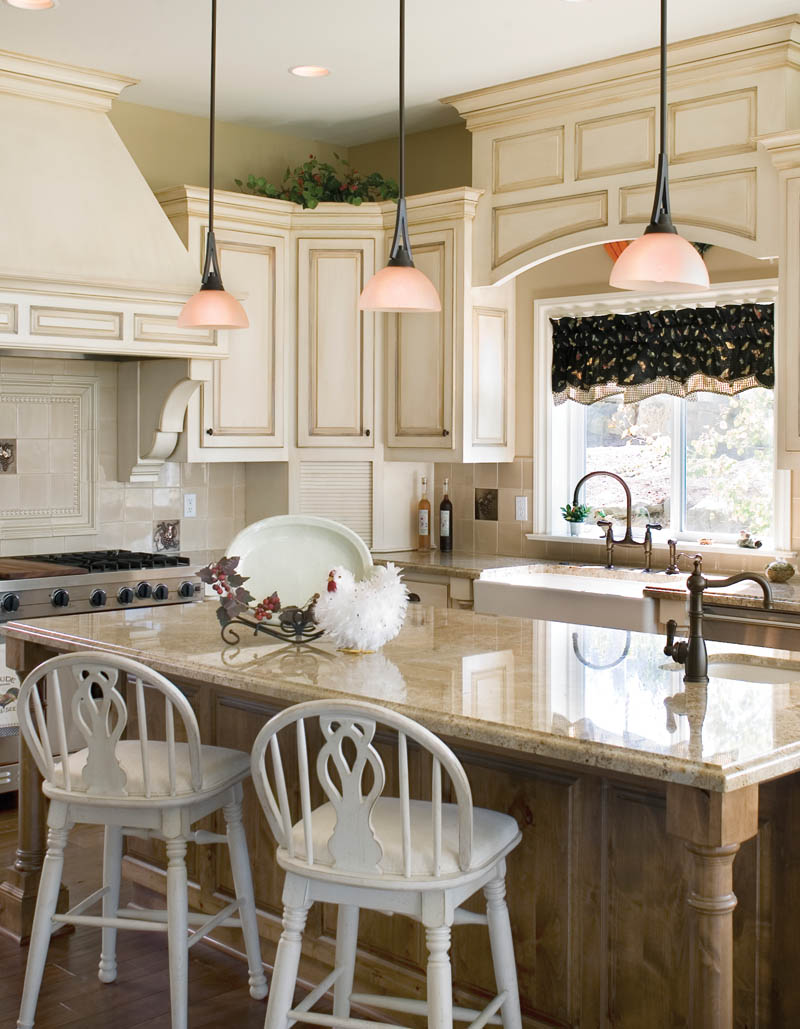Country French House Plan Kitchen Photo 04 - Castlton European Grandeur Home 011S-0002 | House Plans and More