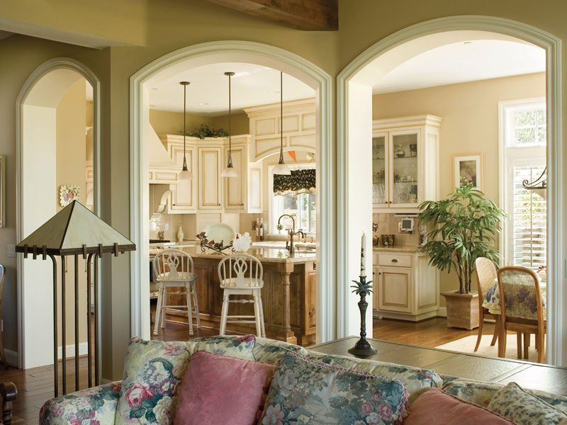 Country French House Plan Living Room Photo 03 - Castlton European Grandeur Home 011S-0002 | House Plans and More