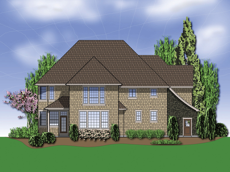 Country French House Plan Color Image of House - Castlton European Grandeur Home 011S-0002 | House Plans and More