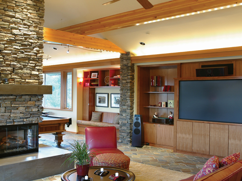 Luxury House Plan Family Room Photo 01 - Crane Grove Ranch Home 011S-0003 | House Plans and More