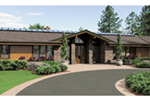 Luxury House Plan Front Image - Crane Grove Ranch Home 011S-0003 | House Plans and More