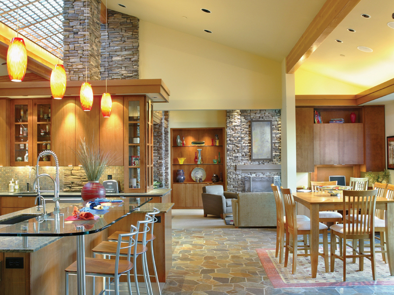 Luxury House Plan Kitchen Photo 02 - Crane Grove Ranch Home 011S-0003 | House Plans and More