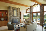 Luxury House Plan Living Room Photo 01 - Crane Grove Ranch Home 011S-0003 | House Plans and More