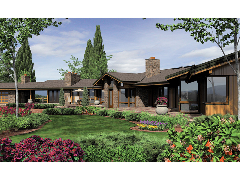 Luxury House Plan Color Image of House - Crane Grove Ranch Home 011S-0003 | House Plans and More