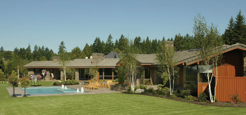 Luxury House Plan Rear Photo 05 - Crane Grove Ranch Home 011S-0003 | House Plans and More