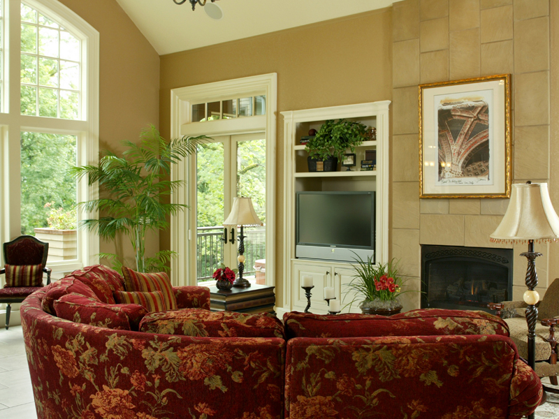 Traditional House Plan Great Room Photo 01 - Champlain Luxury Home 011S-0004 | House Plans and More