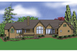 Traditional House Plan Rear Photo 01 - Champlain Luxury Home 011S-0004 | House Plans and More
