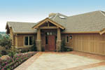 Lake House Plan Front of Home - Juntara Craftsman Shingle Home 011S-0017 | House Plans and More
