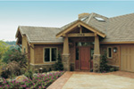 Lake House Plan Front Photo 03 - Juntara Craftsman Shingle Home 011S-0017 | House Plans and More