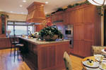 Lake House Plan Kitchen Photo 01 - Juntara Craftsman Shingle Home 011S-0017 | House Plans and More
