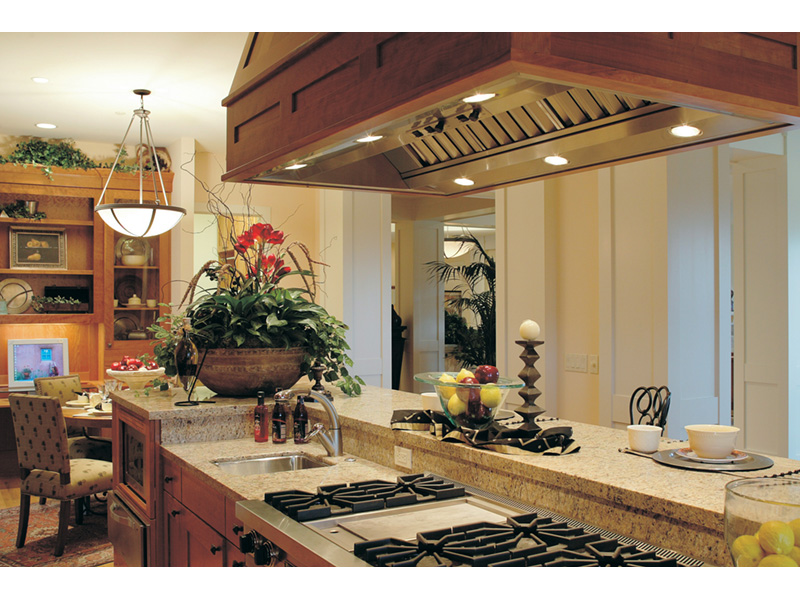Lake House Plan Kitchen Photo 03 - Juntara Craftsman Shingle Home 011S-0017 | House Plans and More