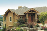 Lake House Plan Side View Photo - Juntara Craftsman Shingle Home 011S-0017 | House Plans and More