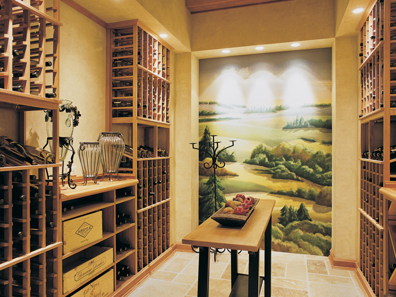 Lake House Plan Wine Cellar Photo - Juntara Craftsman Shingle Home 011S-0017 | House Plans and More