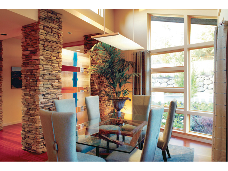 Waterfront House Plan Dining Room Photo 03 - Castlerock Manor Luxury Home 011S-0018 | House Plans and More