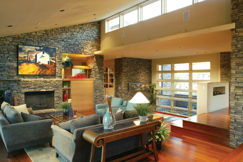 Waterfront House Plan Great Room Photo 01 - Castlerock Manor Luxury Home 011S-0018 | House Plans and More