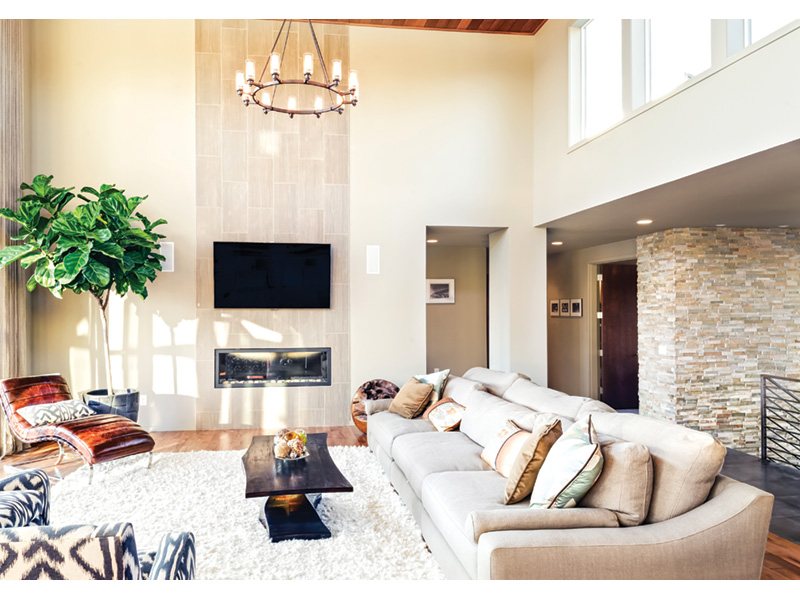 Waterfront House Plan Living Room Photo 02 - Castlerock Manor Luxury Home 011S-0018 | House Plans and More