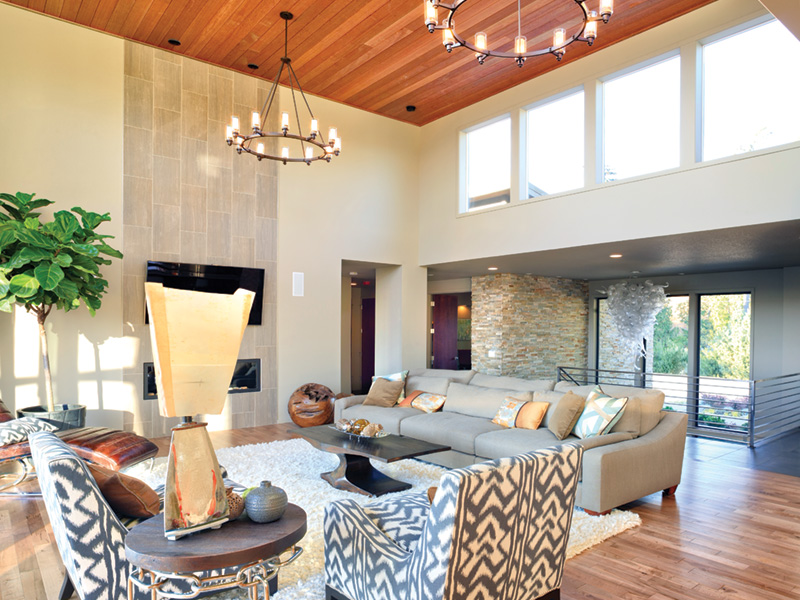Waterfront House Plan Living Room Photo 03 - Castlerock Manor Luxury Home 011S-0018 | House Plans and More