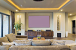 Waterfront House Plan Media Room Photo 01 - Castlerock Manor Luxury Home 011S-0018 | House Plans and More