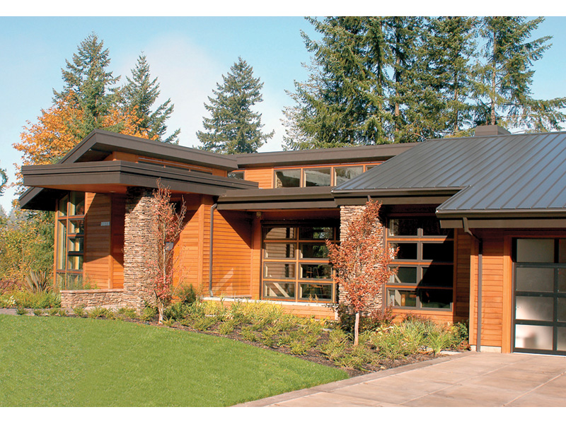 Waterfront House Plan Side View Photo 02 - Castlerock Manor Luxury Home 011S-0018 | House Plans and More