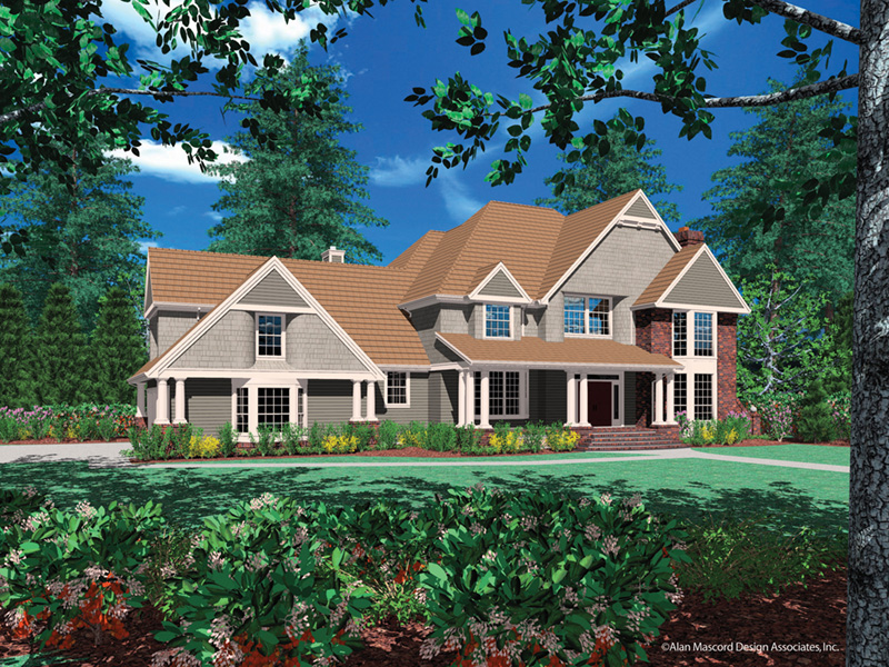 Luxury House Plan Front Image -  011S-0026 | House Plans and More