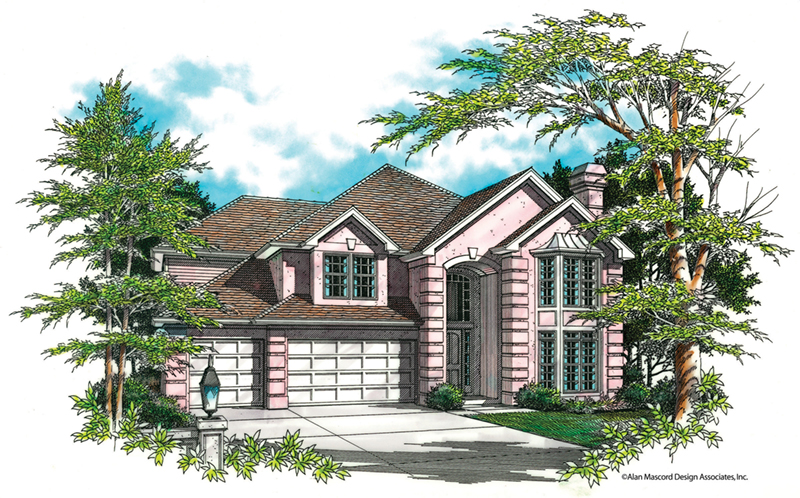 Luxury House Plan Front of Home -  011S-0031 | House Plans and More