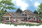Shingle House Plan Front Image -  011S-0032 | House Plans and More
