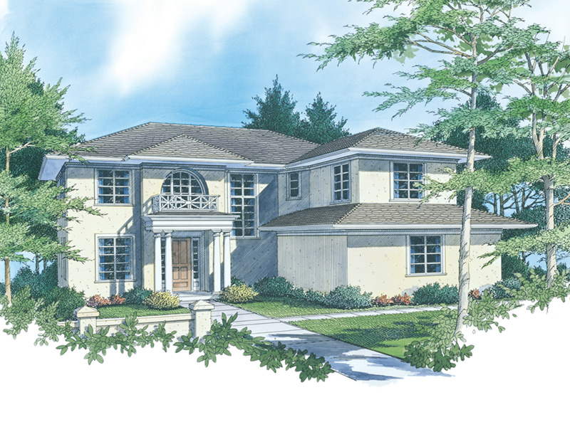 Luxury House Plan Front Image -  011S-0035 | House Plans and More